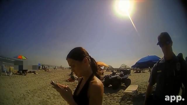See how a day at the beach turned into a brawl between a Wildwood police officer and a 20-year-old Philadelphia woman.