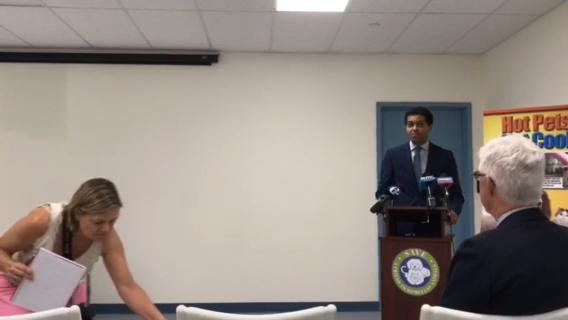 NJ Health Department Commissioner Dr. Shereef Elnahal and State Public Health Veterinarian Colin Campbell informed the public about how to keep their pets safe during the summer.