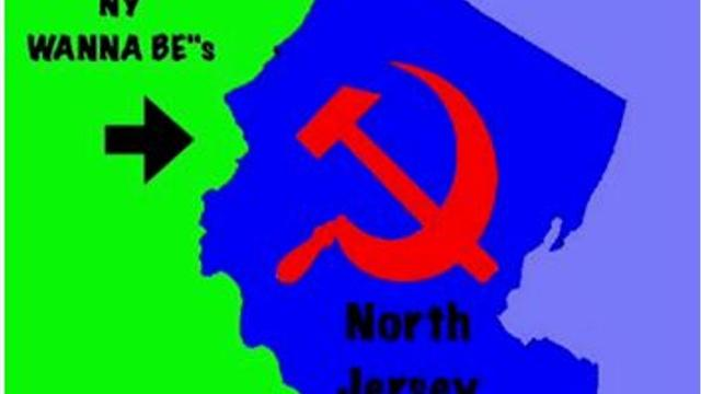 A Berkeley police officer shared a Facebook post comparing North Jersey to the Soviet Union and suggesting a canal be built to separate it from the southern portion of the state.