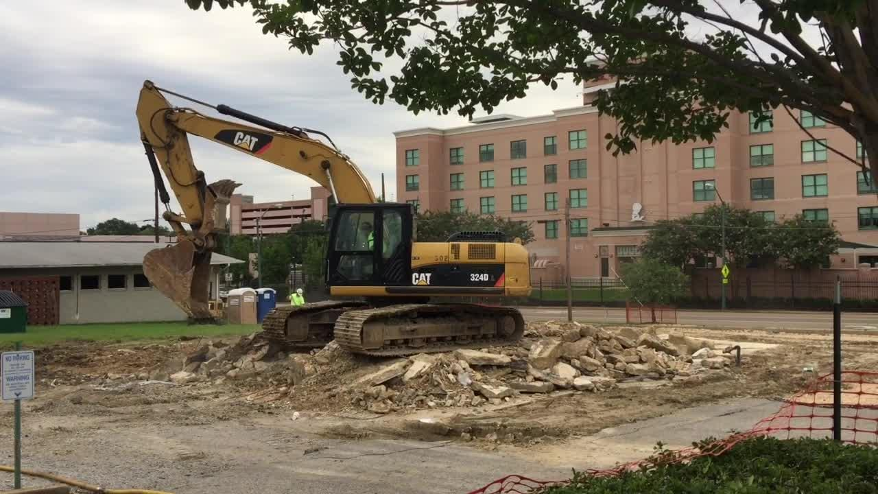 St. Jude starts demolition for western expansion into Pinch District.