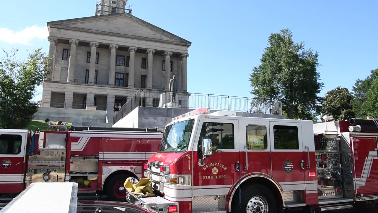 The Tennessee State Capitol was evacuated late Monday afternoon after a small fire broke out in a tunnel connected to the building.