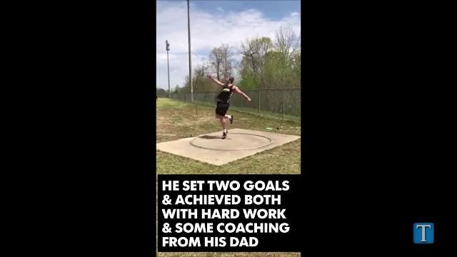 Fairview High's Jake Merryman achieved two big goals during his senior year, setting a new school record in discus throws and competing at the State.