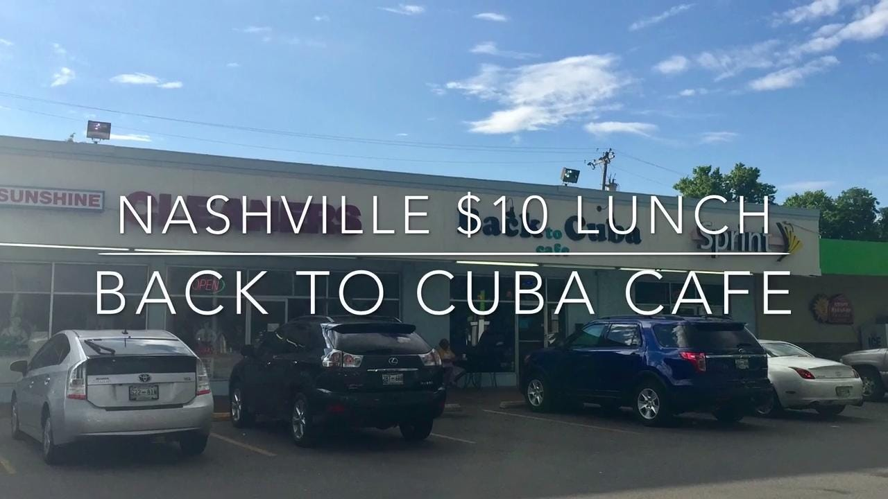 Nashville $10 lunch: Back to Cuba Cafe