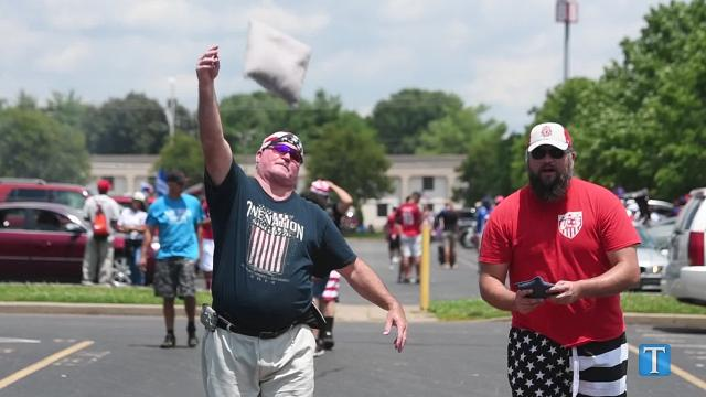 Fans enjoy USA v. Panama  tailgating