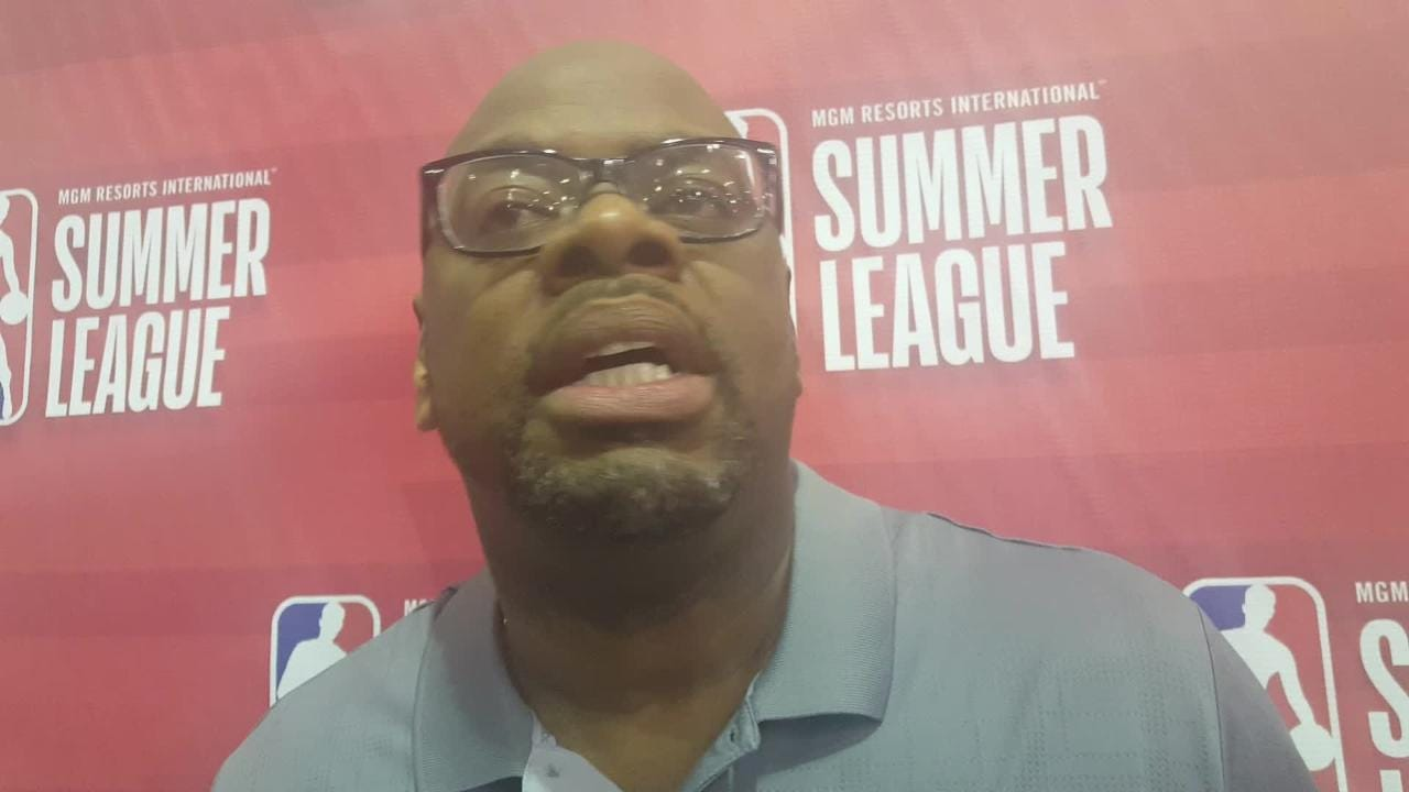 Coach Glynn Cyprien after Grizzlies 2nd summer league game