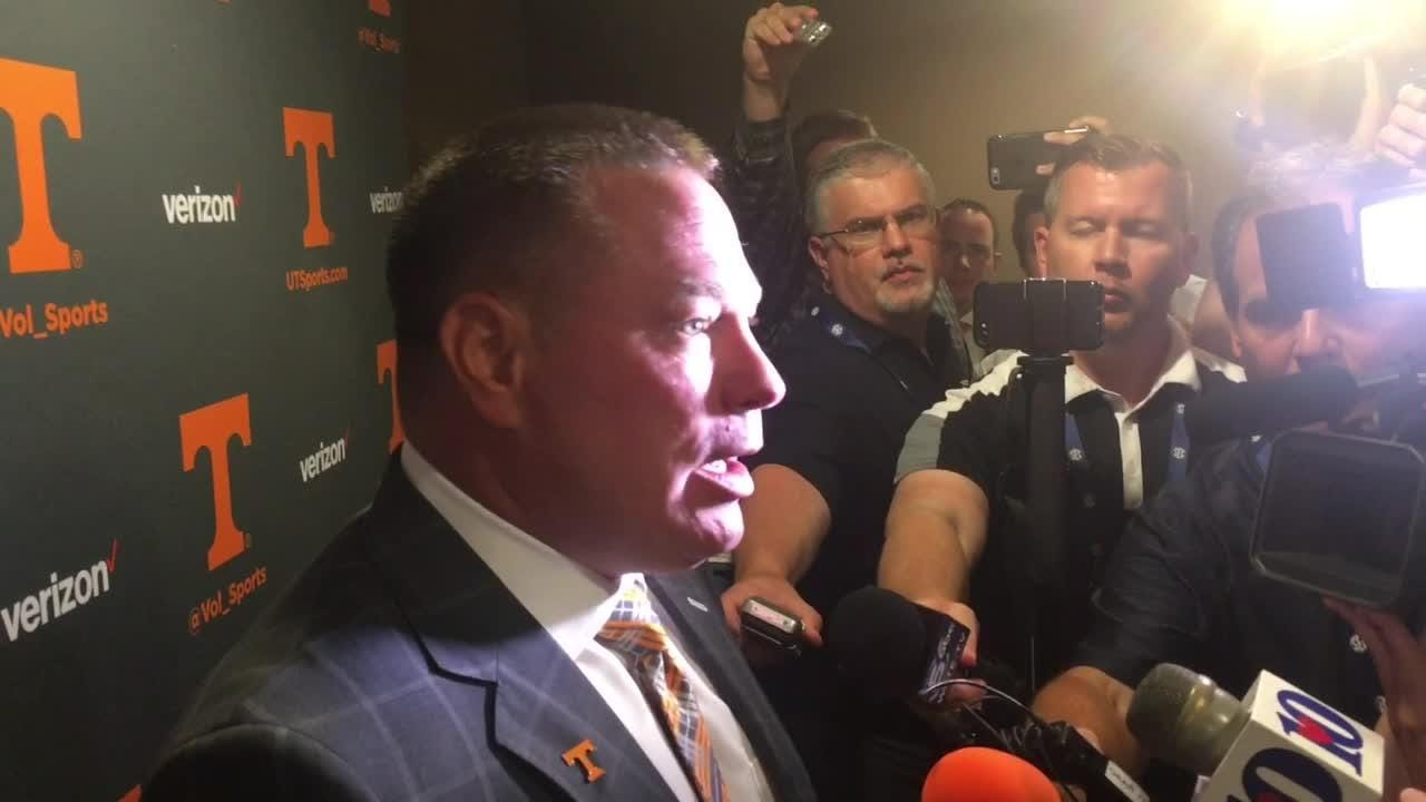 Butch Jones at SEC Media Days
