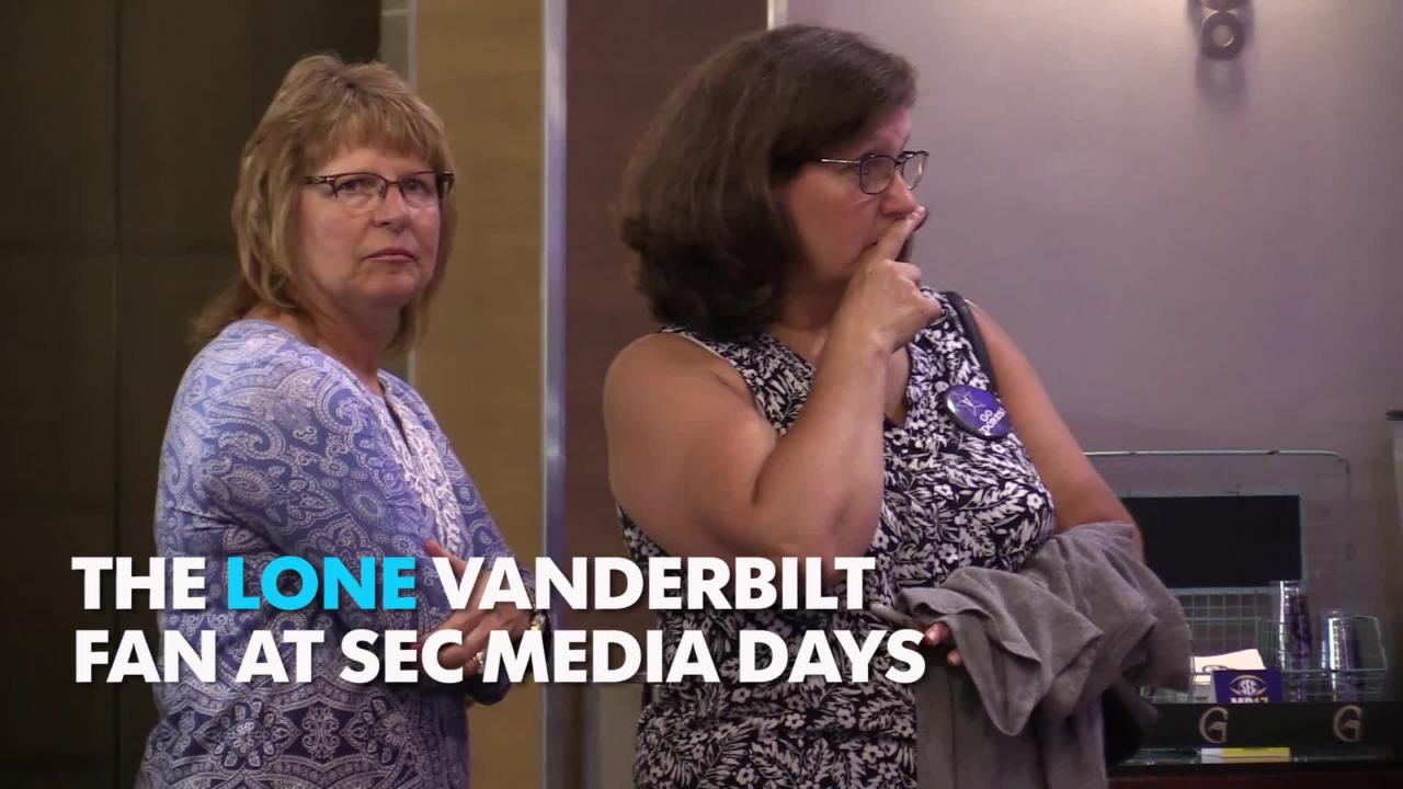 SEC Media Days 2017: One Vanderbilt fan spotted