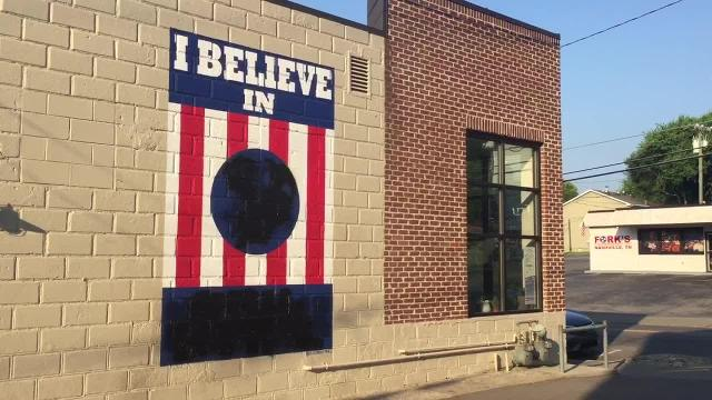 'I Believe in Nashville' mural vandalized again