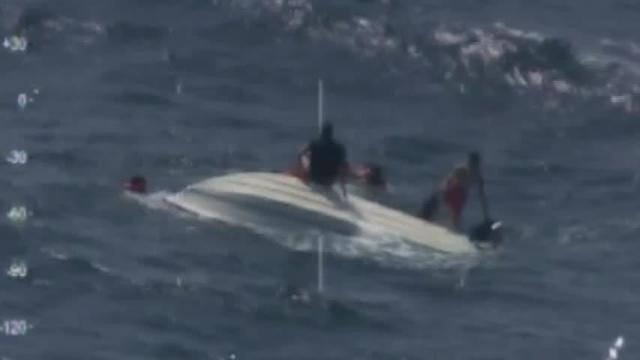 Raw: 5 saved from capsized boat off North Carolina