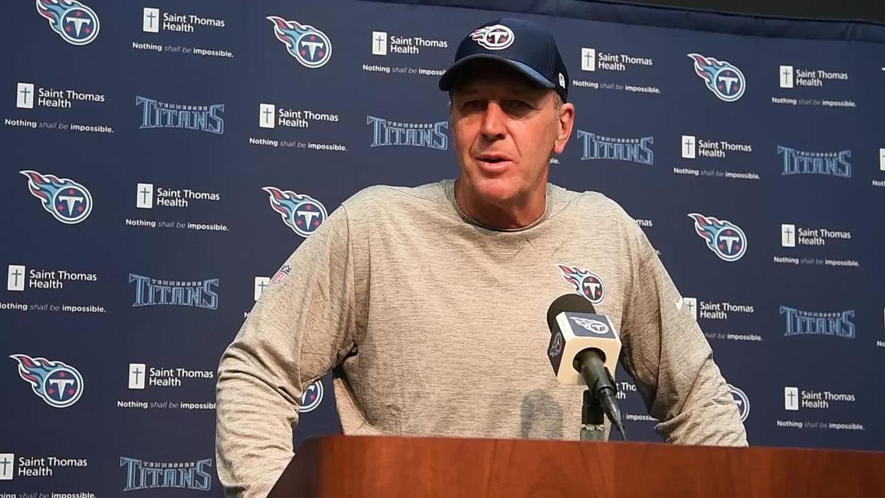 Titans coach Mike Mularkey on start of training camp