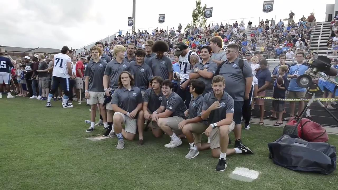 Titans Friday Night Lights practice highlights community at Centennial
