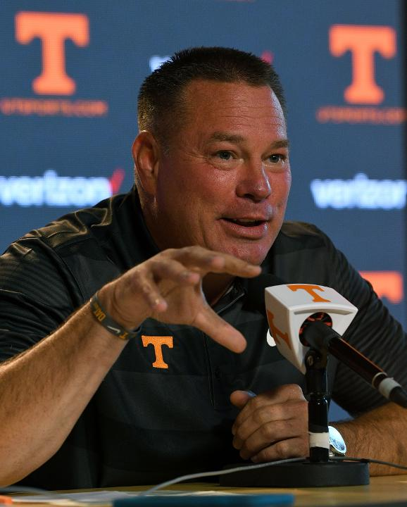 Butch Jones on Media Day