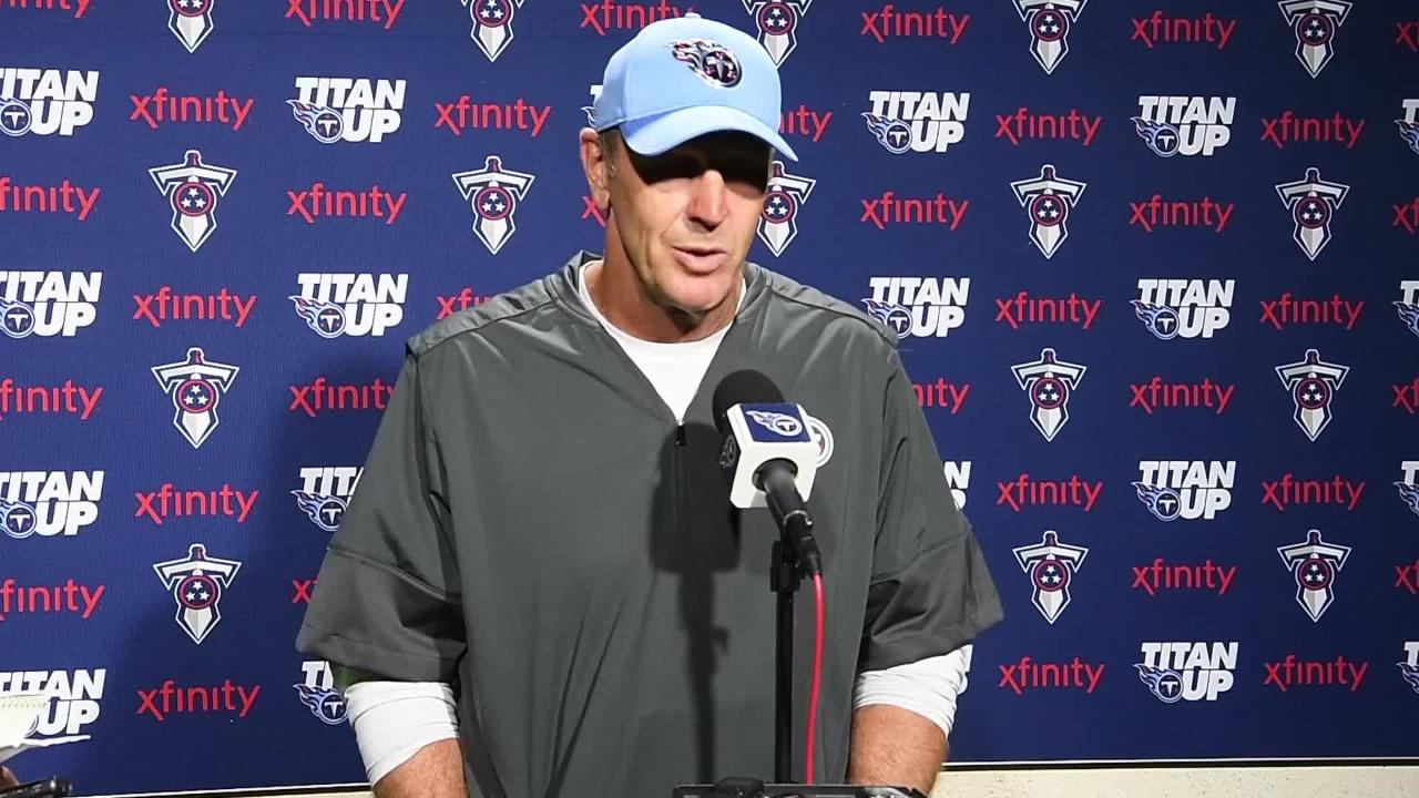 Titans Coach Mike Mularkey on Day 12 practice