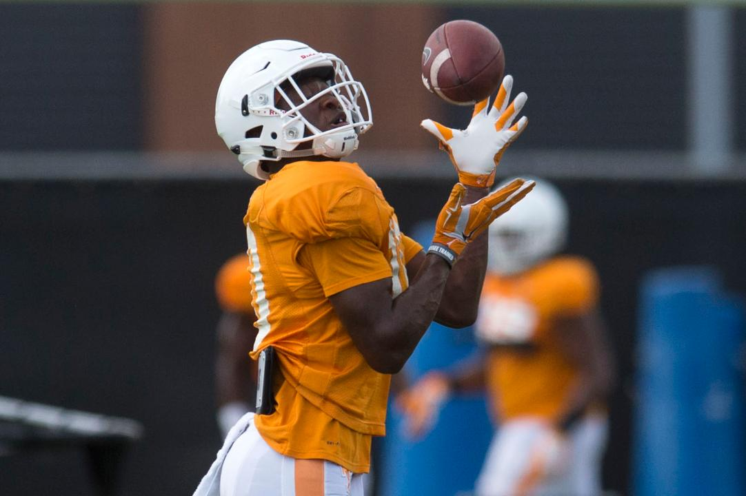 Tennessee Vols football practice Tuesday Aug. 15