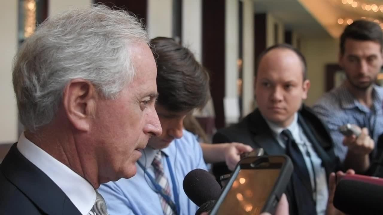 Bob Corker speaks about his views on Donald Trump