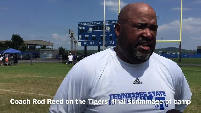 Coach Rod Reed on Tennessee State's final scrimmage of preseason camp