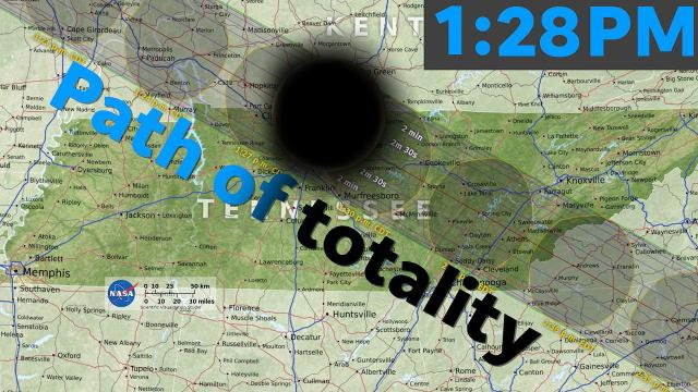 2017 solar eclipse path through Tennessee: Minute-by-minute