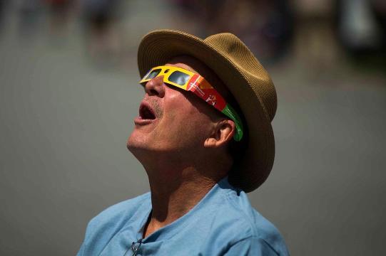 Clingman's Dome celebrates the eclipse