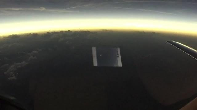 What the solar eclipse looked like from a plane