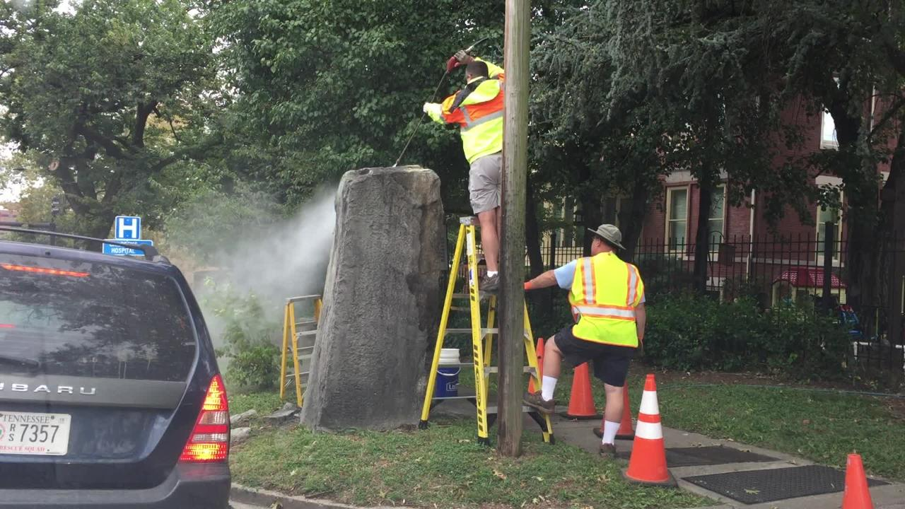 Confederate monument in Fort Sanders cleaned