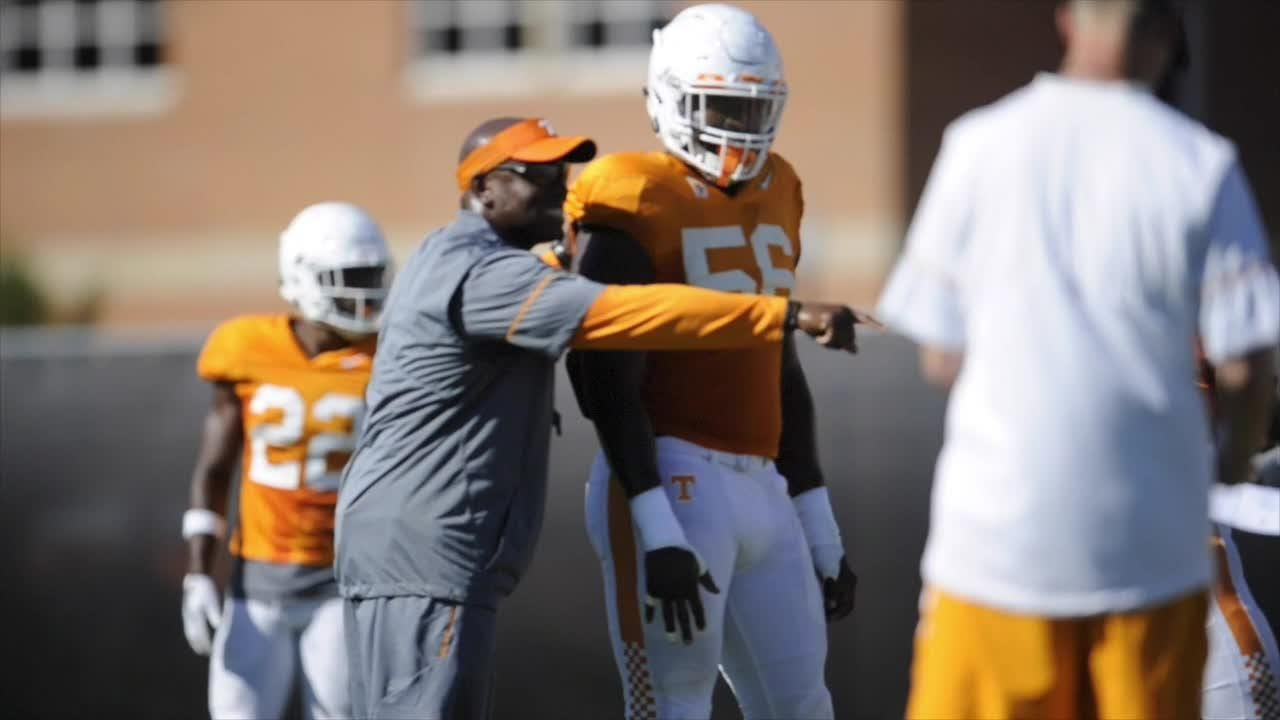 Clips from Vols football practice Aug. 24, 2017