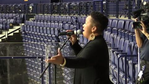 The Nashville Predators are looking for a new anthem singer, and hopefuls turned up at Bridgestone Arena on Aug. 24, 2017, for auditions.