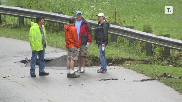 Six inches of rain cause Fairview road closure