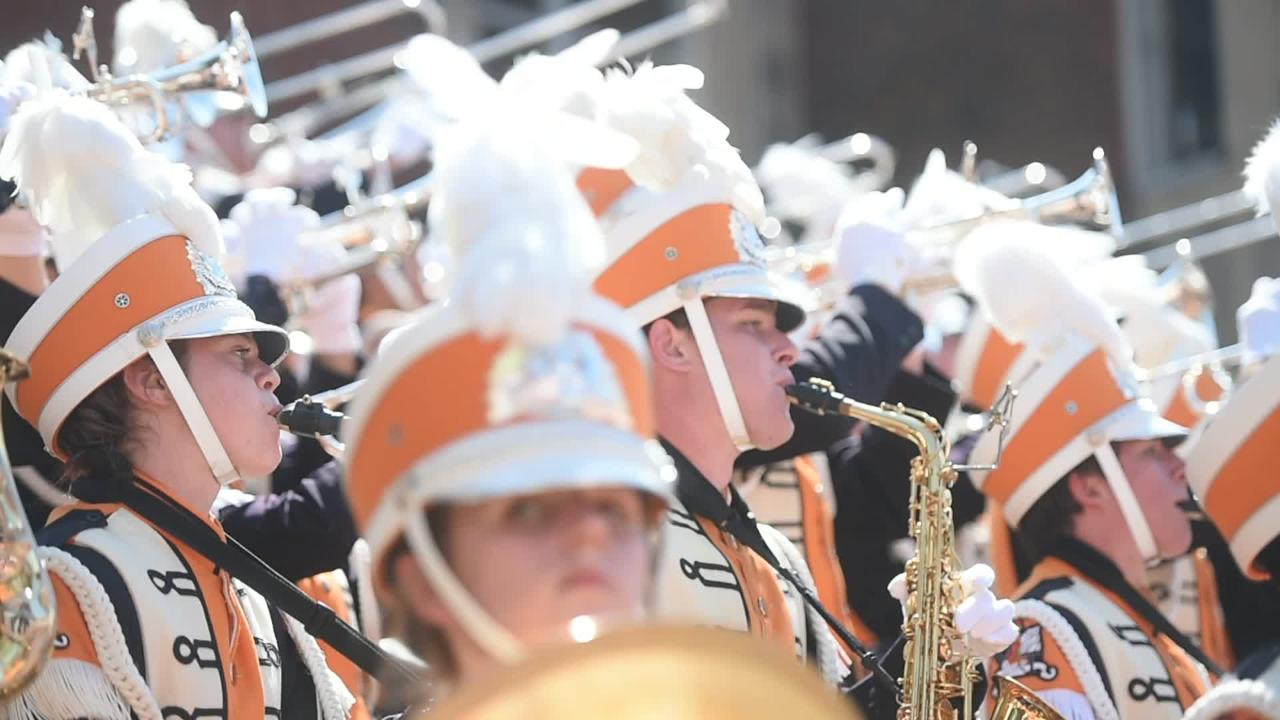 The Pride of the Southland band performs before Tennessee Vols home opener