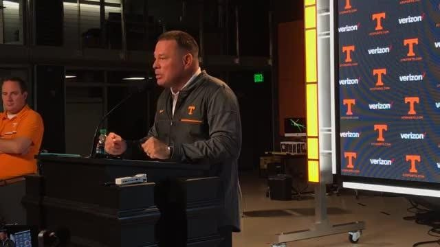 Butch Jones: We have a lot of work to do