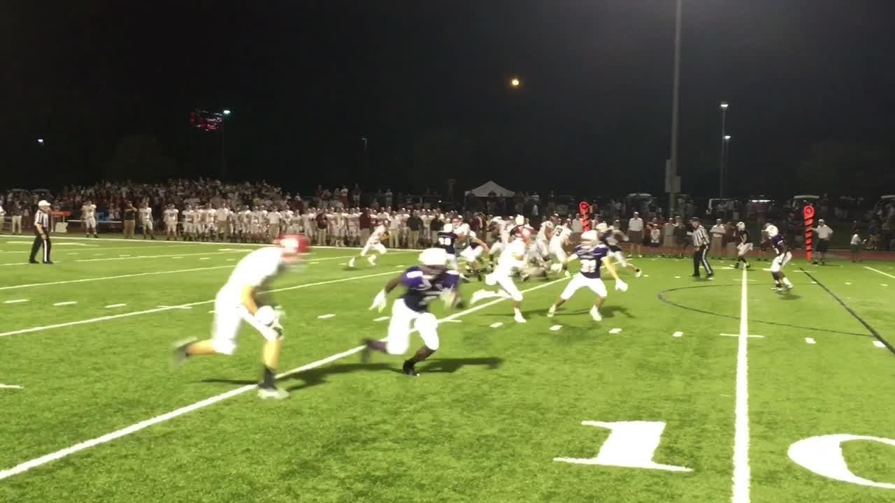 Montgomery Bell Academy jumped out to a 14-0 halftime lead then withstood Father Ryan's second-half surge in a 28-21 victory.