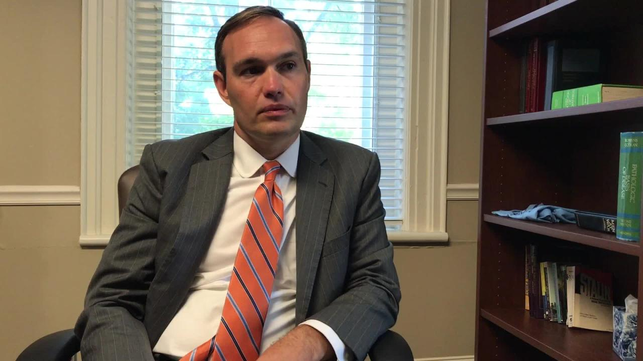 James Hurley, incoming president of Tusculum College, talks about future plans and trying to replicate the success of LMU in recent years on Thursday, Sept. 7, 2017.