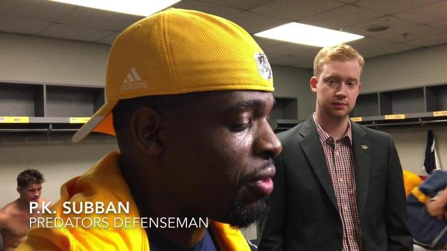 P.K. Subban analyzes Predators' first preseason game