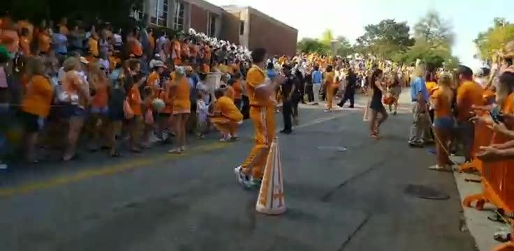 Vol Walk ahead of Tennessee football's game against UMass