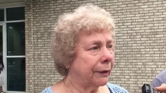Mary Pitts is a church member and was in bathroom when shooting started