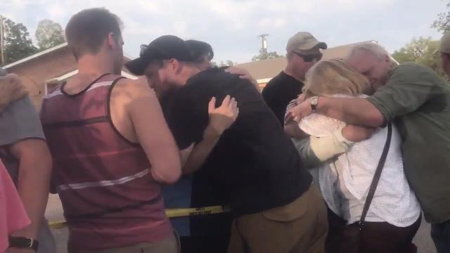 Families unite after the shooting at the church in Antioch