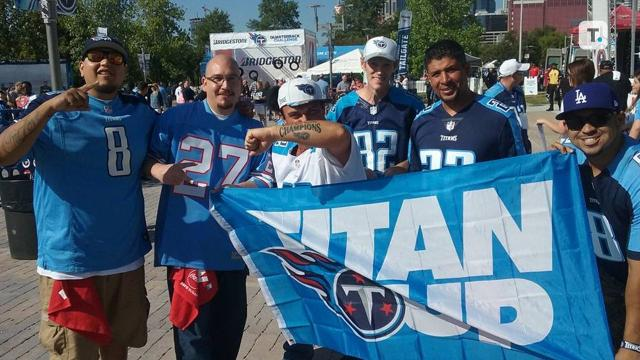 Titans fan shows love of team with tattoos