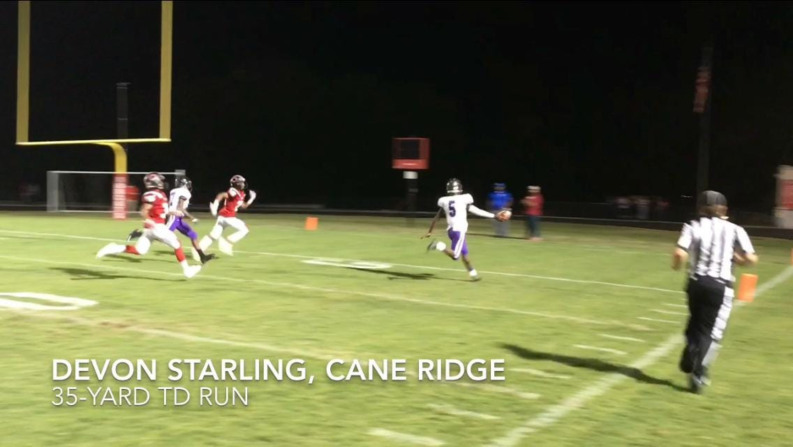 Cane Ridge overcomes early deficit to top Overton, 33-13