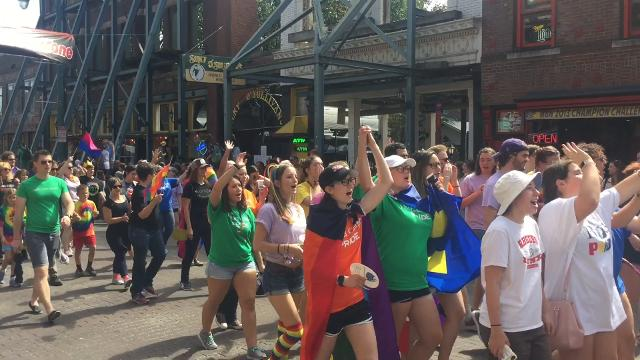 Thousands came to Downtown Memphis on Saturday to celebrate the 14th annual Memphis Pride Fest.
