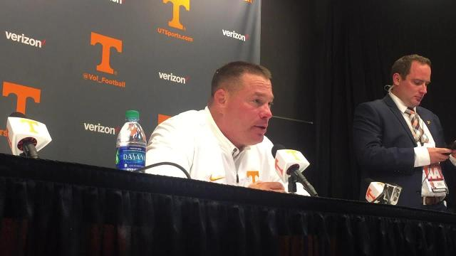 "Tennessee Vols coach Butch Jones: ""We're being tested"""
