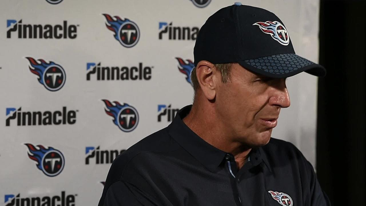 Titans' Mike Mularkey on anthem, loss to Texans