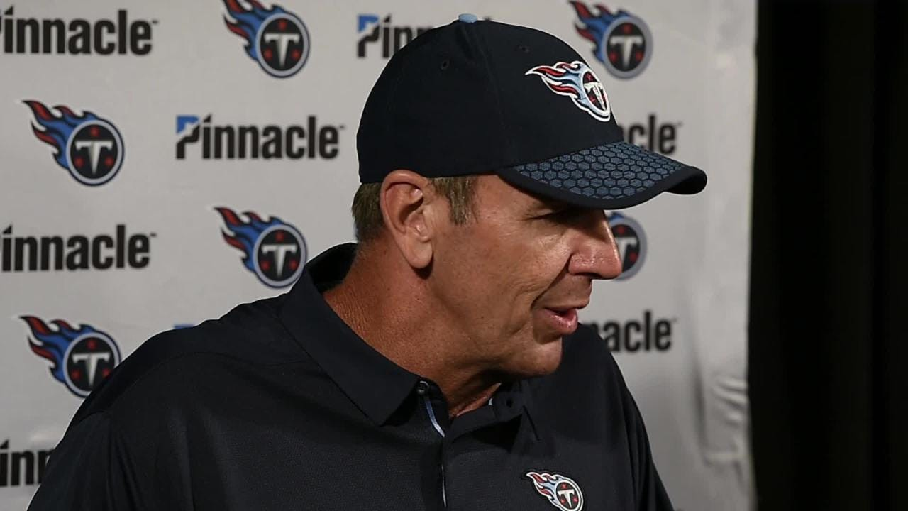 Watch: Titans' Mike Mularkey on blowout loss to Texans