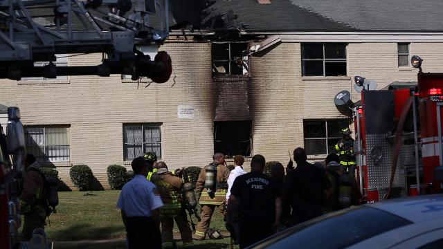 A fire at the Longview Gardens Apartments on E. Dison Avenue in South Memphis on Friday prompted a big fire department response