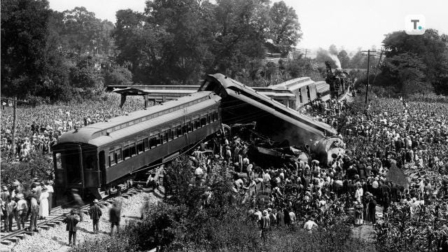 On July 9, 1918, two trains on a single track collided head-on at 50 to 60 miles-per-hour on the Dutchman's curve near present-day Belle Meade to become the deadliest train accident in U.S. history
