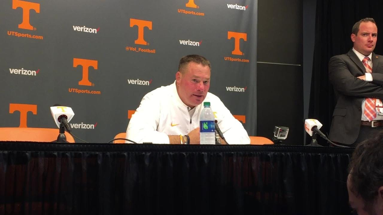 Butch Jones: 'We will continue to show our character'