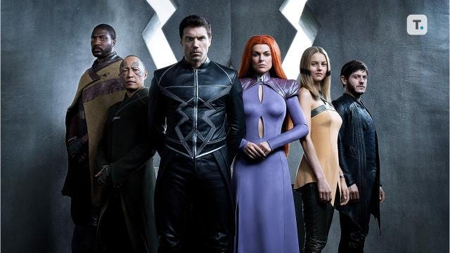 "Trailer for series, ""The Inhumans."" The story of a war that pits two brothers against each other, Iwan Rheon as Maximus, and ""Hell on Wheels"" actor Anson Mount as Black Bolt, king of the Inhumans."