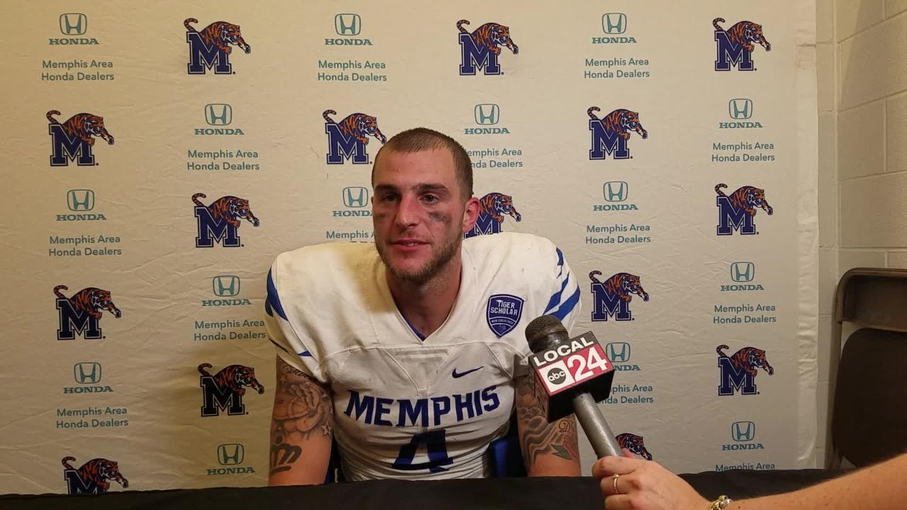 QB Riley Ferguson describes the Memphis comeback at Houston