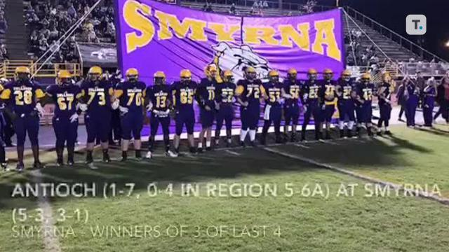 Highlights from Smyrna's 35-0 win over Antioch.