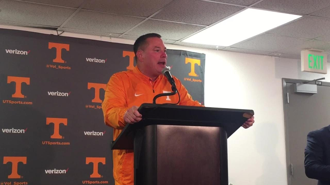 Butch Jones: 'It can change on you in a hurry'