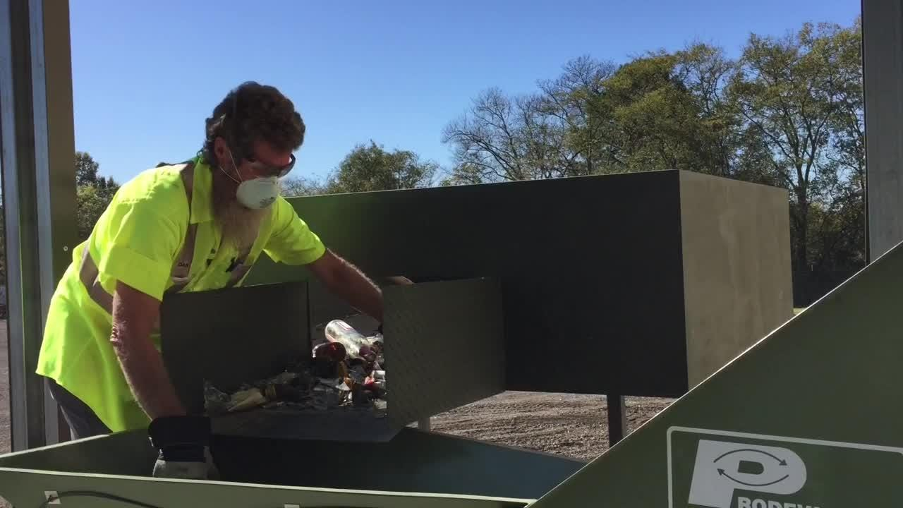 Gallatin Public Works now has a glass crusher, funded by a grant, to recycle glass at a cheaper cost.