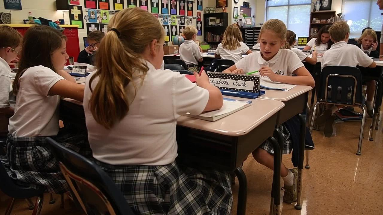 St. Matthew Catholic School, a private school in Franklin that won the distinguished Blue Ribbon award earlier this year.
